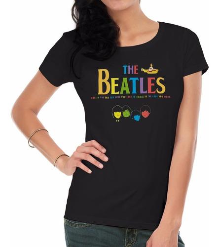remeras estampadas mujer   the beatles2  inkpronta
