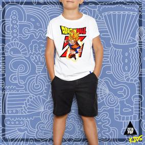37582f39a Remeras Estampadas Niños Unisex Goku Zeta Pop