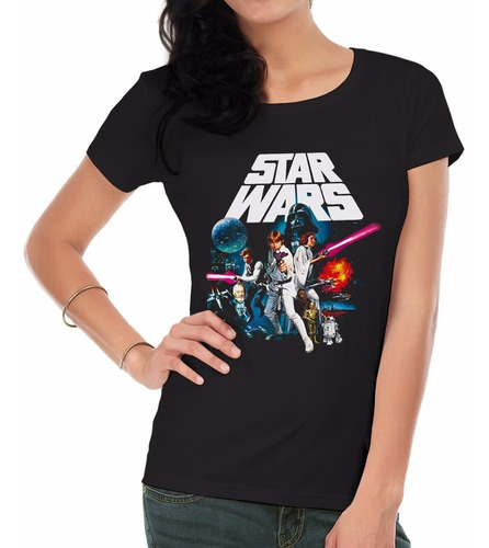 remeras estampadas personalizadas star wars3 mujer