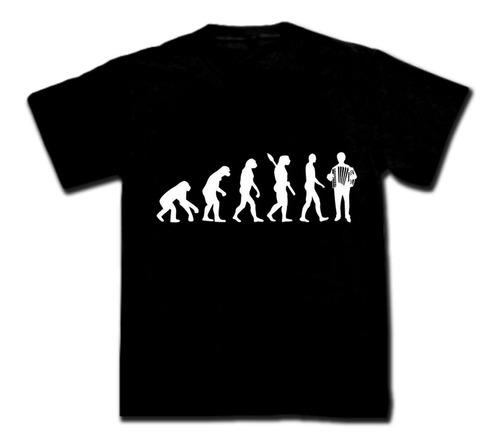 remeras evolución hombre con acordeón, bandoneón