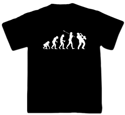 remeras evolución hombre saxophone