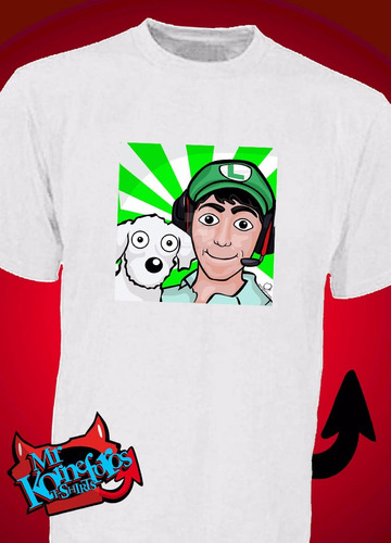 remeras fernanfloo youtuber luigi ver fotos! *mr korneforos*