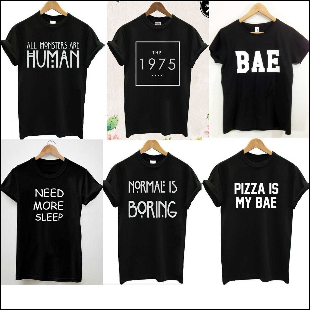 Remeras Frases En Ingles Blancas O Negras Normal People