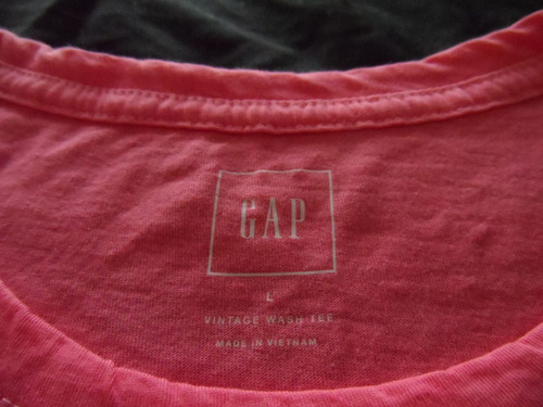 remeras gap  basicas,origen  usa c etiquetas cuello redondo.