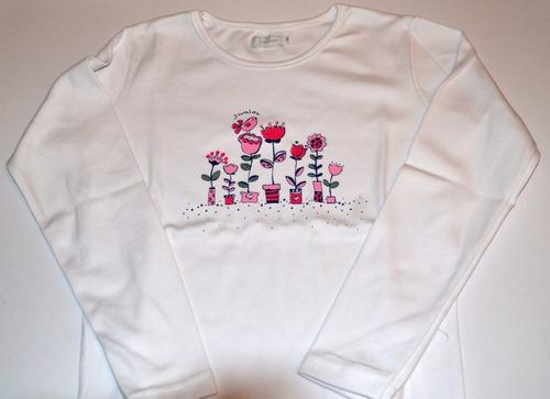remeras junior algodón pima nena 5 modelos little treasure