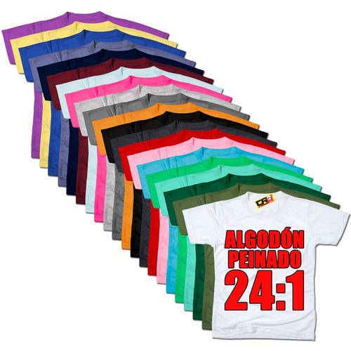 remeras lisas algodón jersey peinado 24:1 hombre promo 6x5