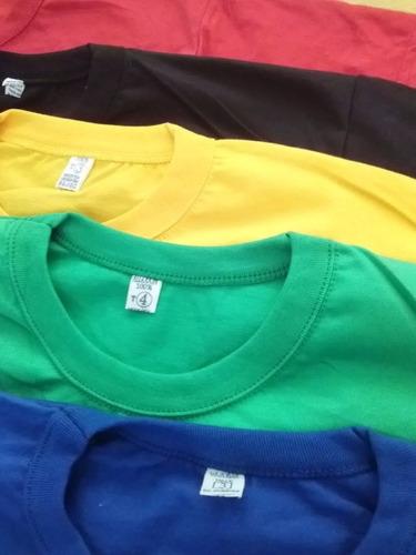 remeras lisas talles especiales 100% algodon somos fabric!!
