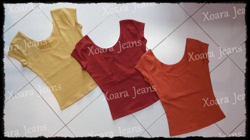 remeras m/ corta escote espejo mujer - xoara jeans