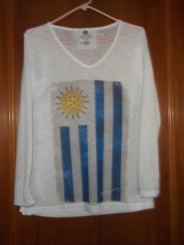 remeras manga larga de uruguay e inglaterra unico talle
