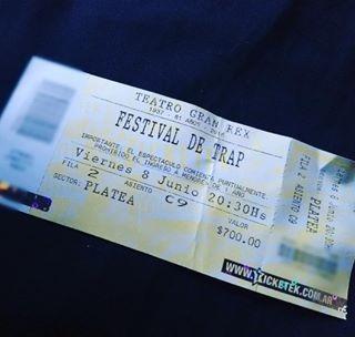 remeras mas entradas festival trap gran rex 8/6 viernes
