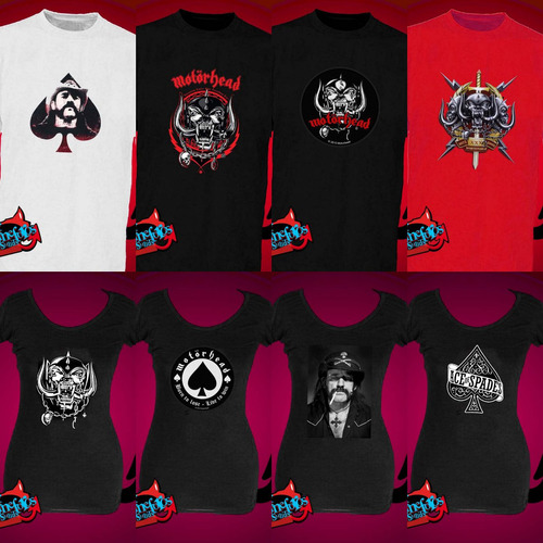 remeras motorhead lemmy metal punk ver fotos! *mr korneforos