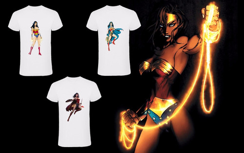 remeras mujer maravilla dc comics 2x$450