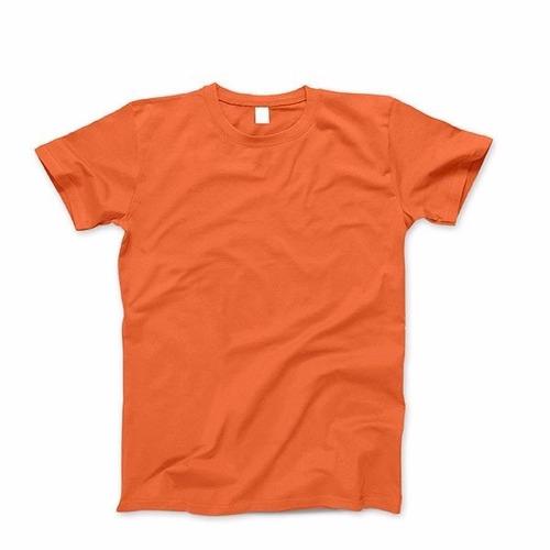 remeras naranja lisas cuello redoondo