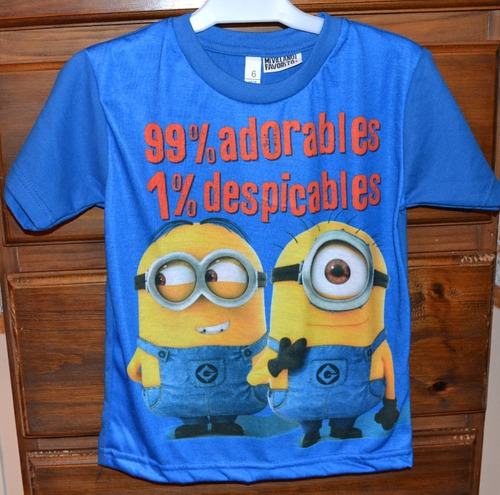 remeras nene minions 5 modelos 2-10 años little treasure