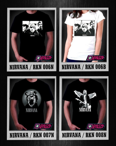 remeras nirvana kurt cobain estampado digital stamp ineditas
