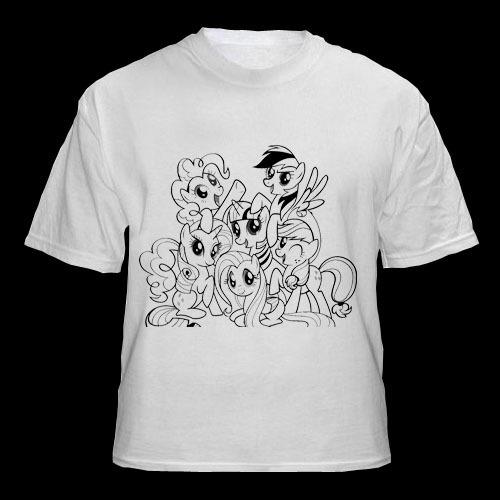 Remeras Para Pintar C/ Fibras- Mi Pequeño Pony -10 Un - $ 1.550,00 ...