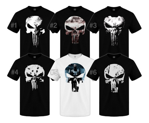 remeras punisher the punisher comic superheroe serie