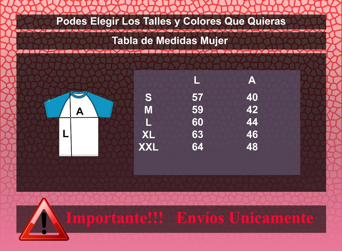 Remeras Raglan Mujer Para Sublimar - Pack Por 10 Unidades ... 5abbaa28a12a1