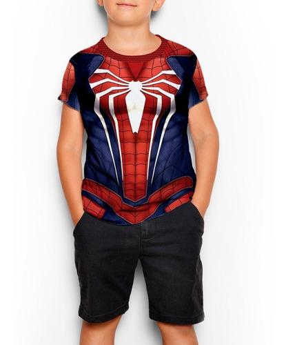 remeras spiderman ps4 gamer juego niño (hombre araña)