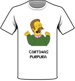 Remeras Sublimadas Purpura Simpsons Ned Flanders Cortinas NO0vm8nw