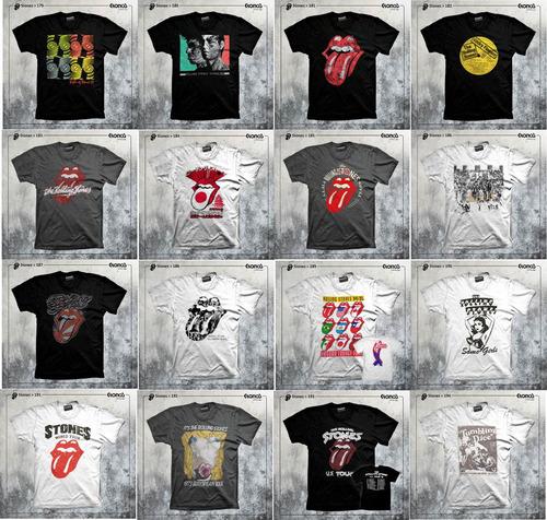 remeras the rolling stones rock mas de 400 modelos en web!!