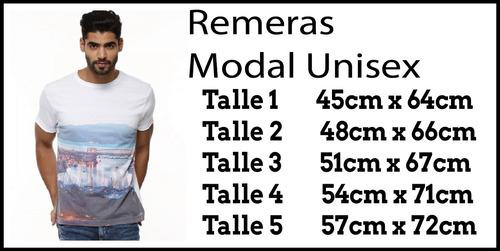remeras unisex  sublimación  modal premium fabrica