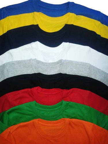 remeras x 10 u niños 100% cotton strong man-larga t: 2-4-6-8