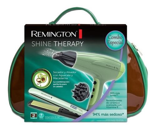 remington combo alisadora s9960 + secadora d5216 + estuche