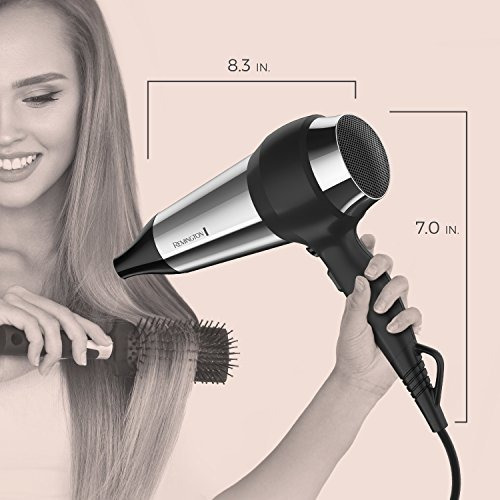 remington secador de pelo, color negro, negro