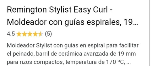 remington stylist easy curls