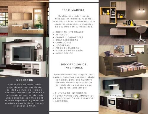 remodelaciones, fabricación de muebles en madera