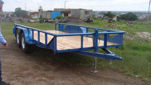 remolque 3 toneladas plataforma con serie