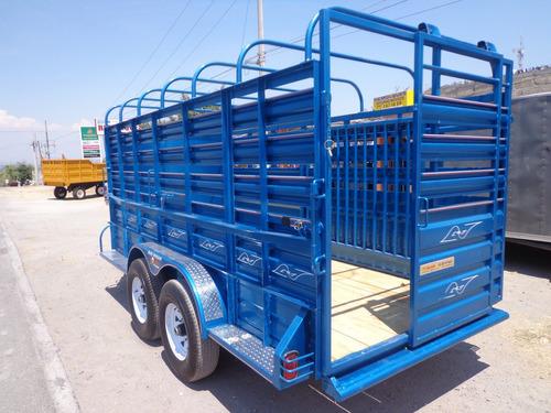 remolque 4 caballos cuello de ganso ganadero 6 ton 2 ejes