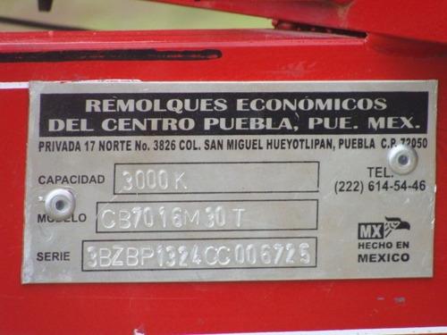 remolque agricola forrajero  con serie 3000 kilos nuevo