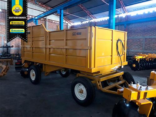 remolque bison de forraje hidráulico 4 toneladas