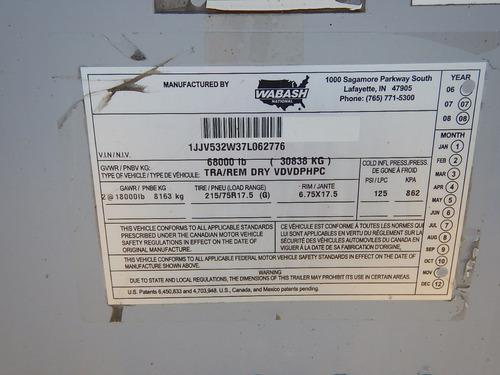 remolque caja seca 2007 wabash 53x102 gm106658