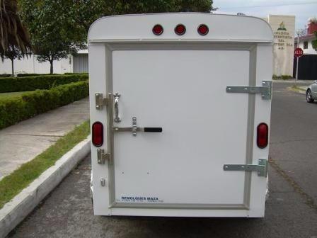 remolque caja seca 800kg cuatrimoto, refacciones, carga gral