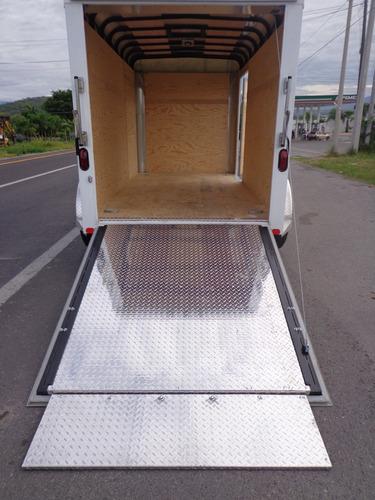 remolque caja seca de aluminio para karts, motos cuatrimotos