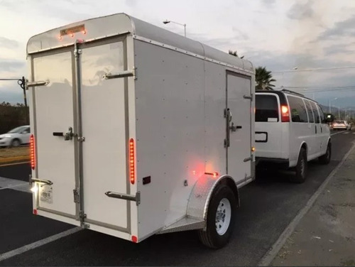 remolque caja seca de aluminio, resistente y practico!