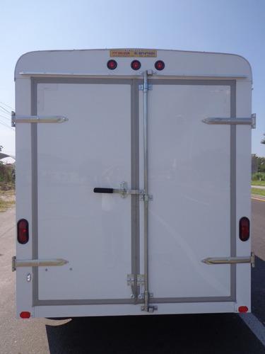remolque caja seca de aluminio,ligero carga en general, 3ton