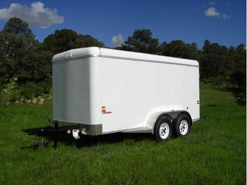 remolque caja seca de aluminio,motos,carga,bodega con rampa