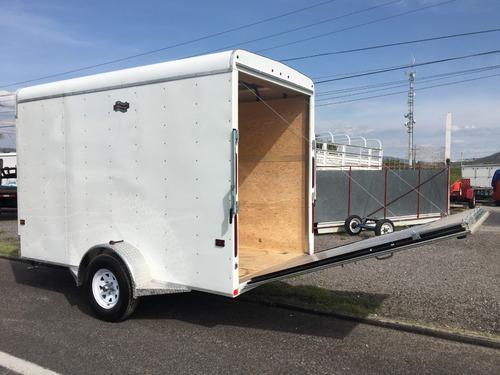 remolque caja seca para cuatrimotos, can-am, motos, karts