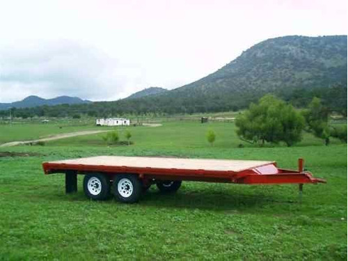 remolque cama alta 3000 kilos nuevo maquinaria con serie