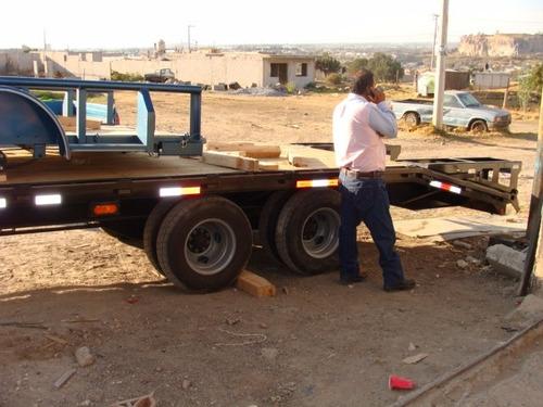 remolque cama alta 6000 kilos nuevo maquinaria con serie