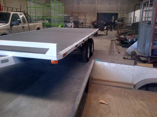 remolque cama alta camiones plataforma maquinaria mty 17