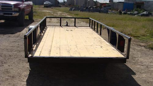 remolque cama baja 1.5 toneladas nuevo con serie,para emplac