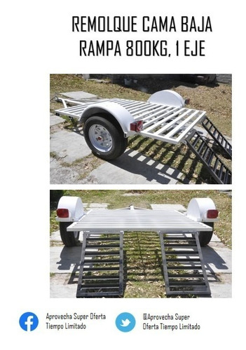 remolque cama baja 800kg