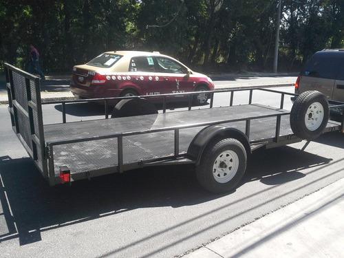 remolque cama baja camionetas cuatrimotos traila mty 17