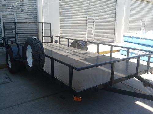 remolque cama baja camionetas cuatrimotos traila mty 188