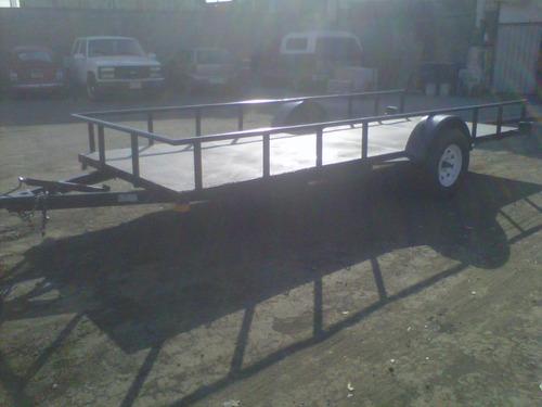 remolque cama baja camionetas motos 1500 kgs. mex 18